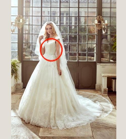 fisico a clessidra abito da sposa adatto vestito sirena