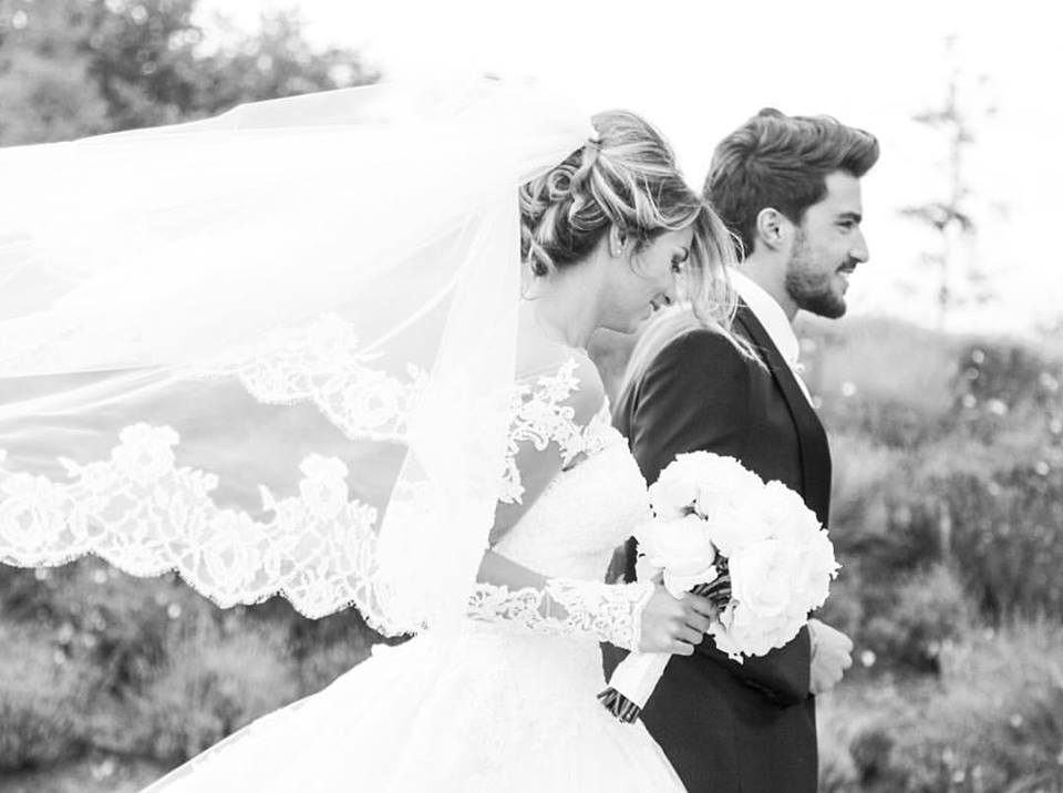 abito sposa pizzo vip alessandra rinaudo matrimonio Eleonora Brunacci Mariano di Vaio