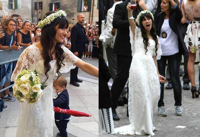 abito da sposa in pizzo elisa