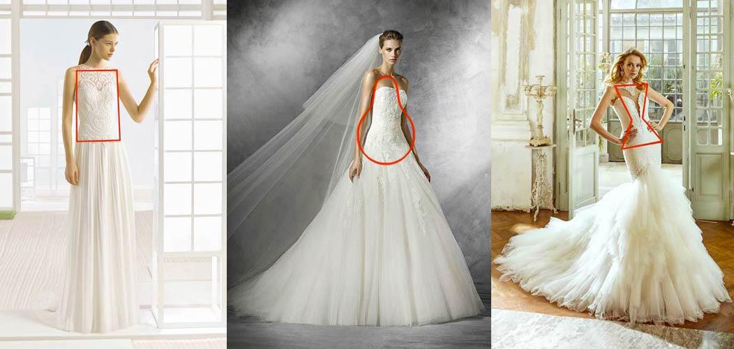 scelta abito da sposa fisico silhouette